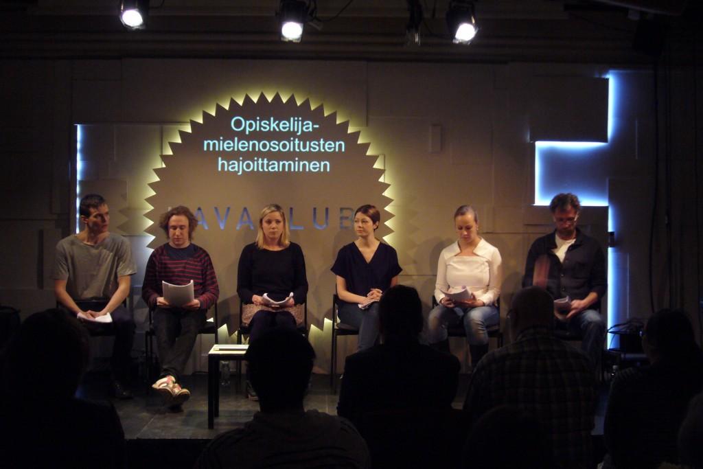 Johannes Holopainen, Ylermi Rajamaa, Pihla Penttinen, Niina Koponen, Kaisa Mattila, Antti Reini.