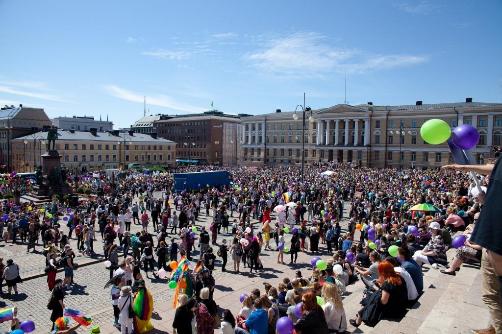 Helsinki Pride 2014. Kuva: Johanna Sillanpää