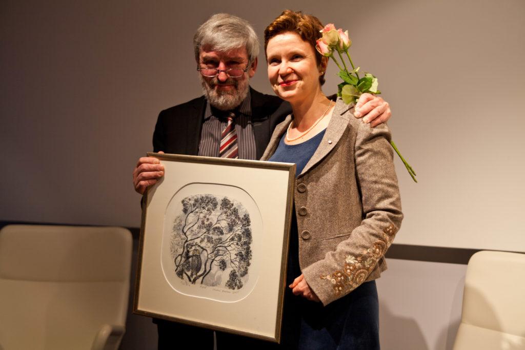 Matti Suurpää & Sirpa Kähkönen. Foto Johanna Sillanpää/Finlands PEN