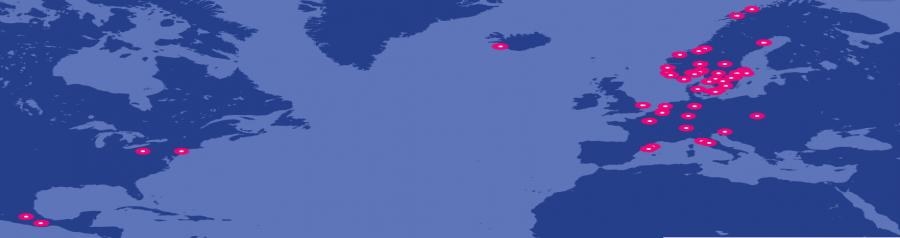 ICORN-kaupunkeja kartalla. Lähde: icorn.org