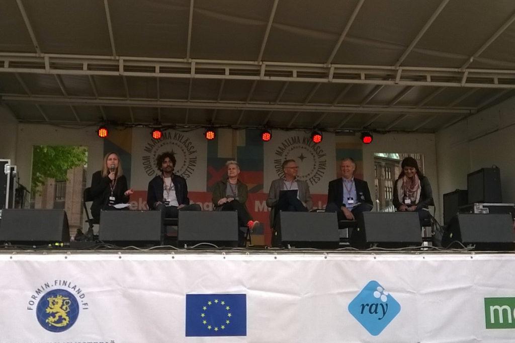 Eva Neklyaeva, Jowan Safadi, Lisen Sundqvist, Veikko Kunnas, Helge Lunde & Nasrin Madani.