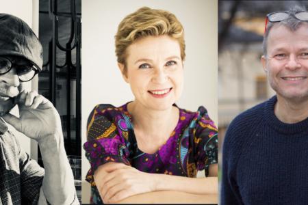 Kuvassa keskustelijat Juha Ruusuvuori, Sirpa Kähkönen ja Teivo Teivainen
